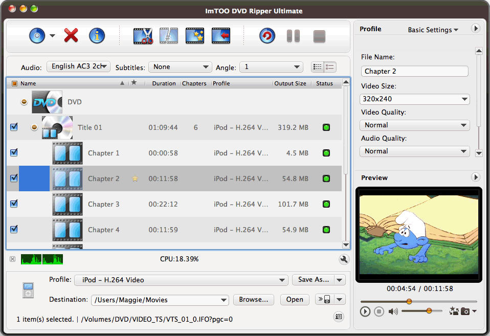 ImTOO DVD Ripper Ultimate for Mac start up