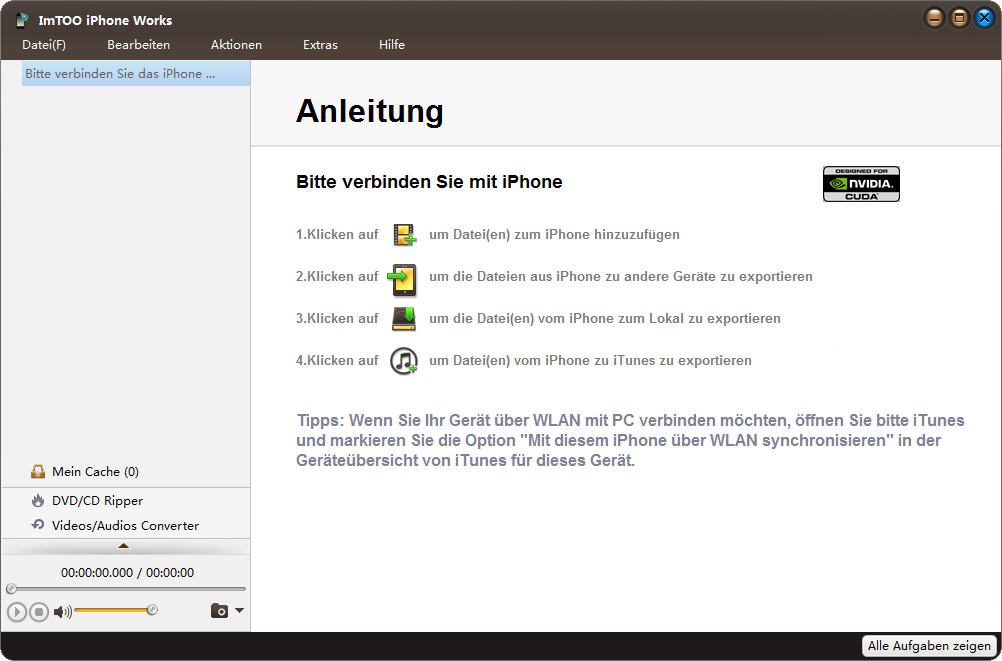 Screenshot vom Programm: ImTOO iPhone Works