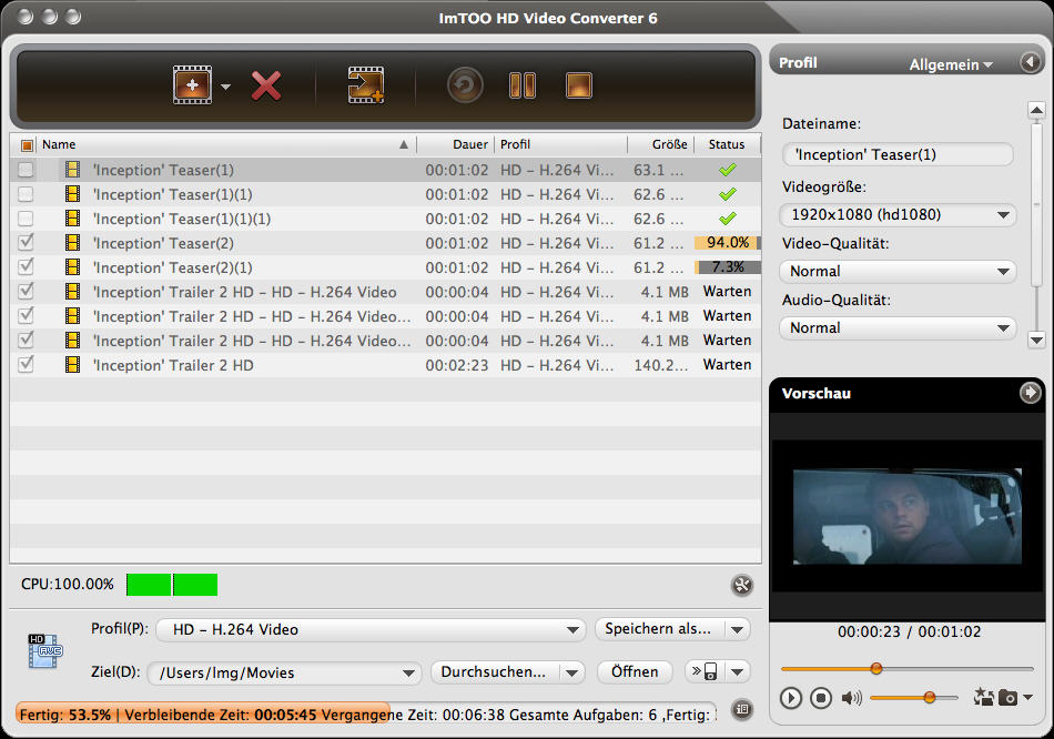 Imtoo Hd Video Converter For Mac Screenshot