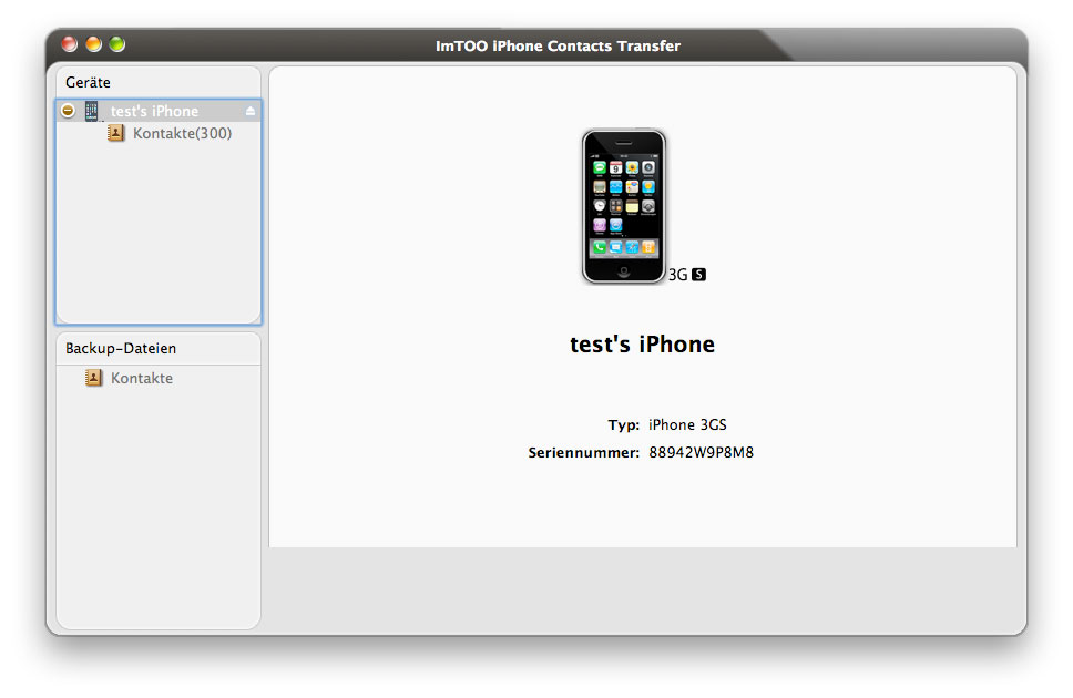 ImTOO iPhone Contacts Transfer for Mac